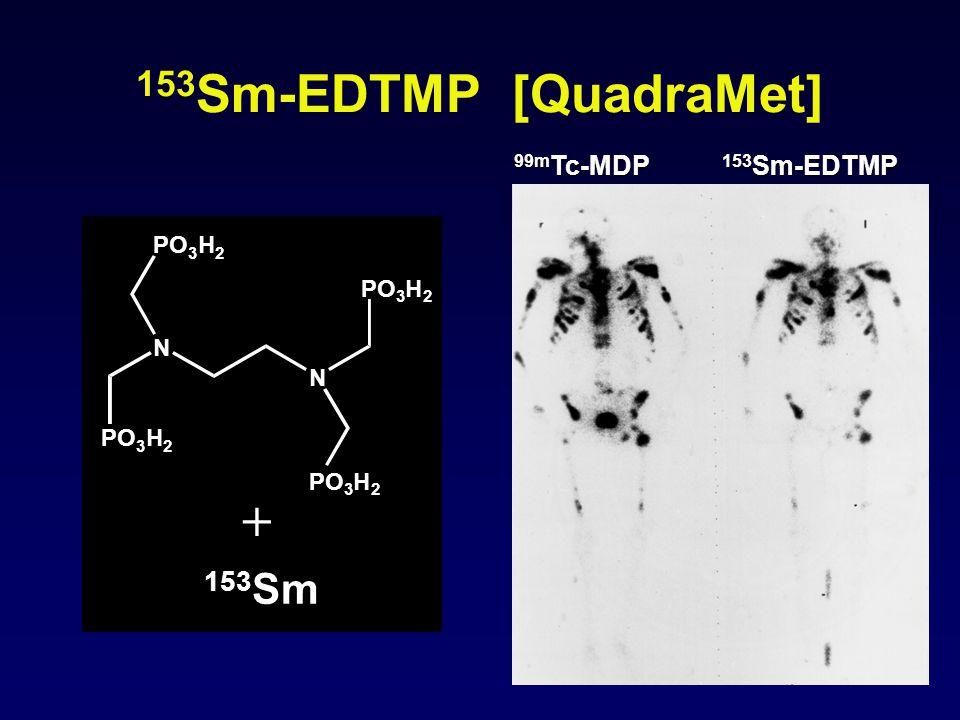 153Sm-EDTMP [QuadraMet] + 153Sm 99mTc-MDP 153Sm-EDTMP N PO H 3 2